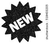 new sticker grainy textured... | Shutterstock . vector #518403205
