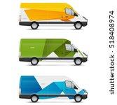 mockup white bus. set of design ... | Shutterstock .eps vector #518408974