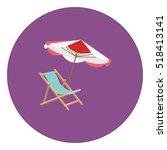 Umbrella Beach Sun Icon Vector...
