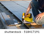 technician while working on a... | Shutterstock . vector #518417191