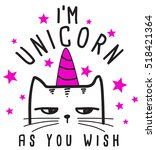 i am unicorn  cute graphics for ... | Shutterstock .eps vector #518421364