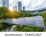 solar panels in the park of... | Shutterstock . vector #518421367