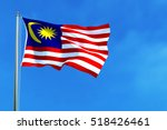 malaysia national flag on the... | Shutterstock . vector #518426461
