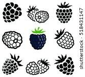 blackberry fruit icon... | Shutterstock .eps vector #518431147