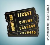 cinema ticket icon isolated on... | Shutterstock .eps vector #518432815