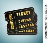 realistic cinema ticket icon... | Shutterstock .eps vector #518432815
