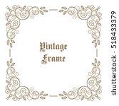 vintage floral decorative frame ...   Shutterstock .eps vector #518433379