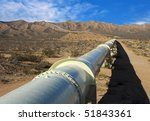 Pipeline In The Mojave Desert