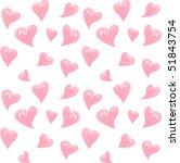 heart confetti | Shutterstock .eps vector #51843754