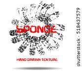 grunge black sponge frame.... | Shutterstock .eps vector #518437579