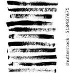black and white sponge print... | Shutterstock .eps vector #518437675