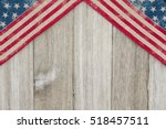 usa patriotic old flag on a... | Shutterstock . vector #518457511