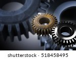 Gears old one and new one work together 3d rendering
