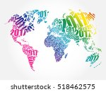 2017 happy new year  world map... | Shutterstock .eps vector #518462575