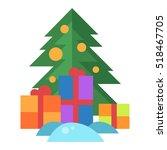 christmas tree vector. | Shutterstock .eps vector #518467705