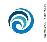 abstract blue swirl tribal... | Shutterstock .eps vector #518475154