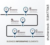 business infographic template.... | Shutterstock .eps vector #518477065
