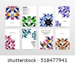 geometric background template... | Shutterstock .eps vector #518477941