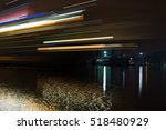 blurry lights of ship in harbor ... | Shutterstock . vector #518480929