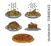 Italian Cuisine  Vector Colore...