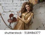 portrait of a girl model in a... | Shutterstock . vector #518486377
