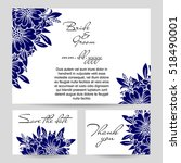 invitation with floral... | Shutterstock .eps vector #518490001