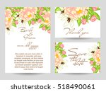 invitation with floral...   Shutterstock .eps vector #518490061