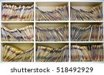 medical files in open cabinet | Shutterstock . vector #518492929