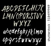 hand drawn brush font.... | Shutterstock .eps vector #518499949