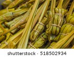 glutinous rice steamed in... | Shutterstock . vector #518502934
