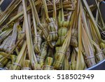 glutinous rice steamed in... | Shutterstock . vector #518502949