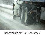 Speeding Truck Wheels On Icy...