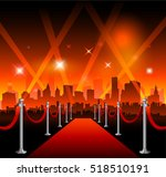 hollywood movie red carpet | Shutterstock .eps vector #518510191