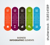 infographic design template can ... | Shutterstock .eps vector #518514589