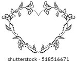 heart shaped black and white... | Shutterstock .eps vector #518516671