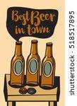vector banner with a beer... | Shutterstock .eps vector #518517895