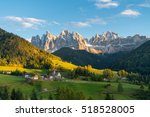 santa maddalena  val di funes ... | Shutterstock . vector #518528005