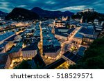 Salzburg Overview At Night Wit...