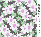 hand drawn seamless floral... | Shutterstock .eps vector #518530231