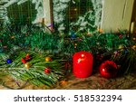 christmas background wooden | Shutterstock . vector #518532394