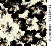 abstract ethnic vector seamless ... | Shutterstock .eps vector #518534491