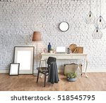 blur abstract modern interior... | Shutterstock . vector #518545795