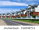 residential buildings line a... | Shutterstock . vector #518548711