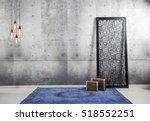 concrete wall interior decor... | Shutterstock . vector #518552251
