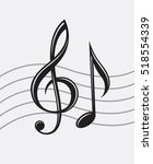 illustration of treble clef and ... | Shutterstock .eps vector #518554339