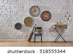 world time interior concept ...   Shutterstock . vector #518555344