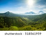 panoramic view of batur volcano ... | Shutterstock . vector #518561959