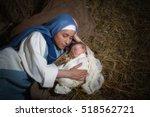 live christmas nativity scene... | Shutterstock . vector #518562721