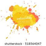 vector paint splash logo | Shutterstock .eps vector #518564047