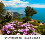 view from a cliff on the island ...   Shutterstock . vector #518565655